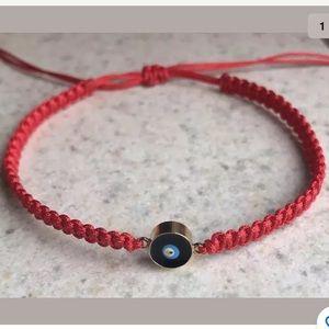 Handmade Fashion Knitted Evil Eye Charm Bracelet